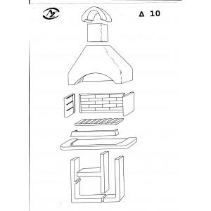 Ψησταριά προκάτ A.S. factory Δ10