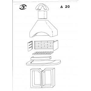 Ψησταριά προκάτ A.S. factory Δ20