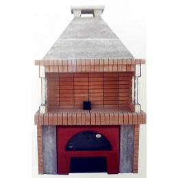 Ψησταριά προκάτ A.S. factory 1150  με ξυλόφουρνο